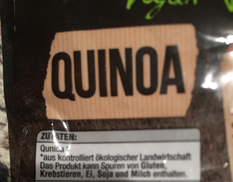 Quinoa bio + vegan - Ingrédients