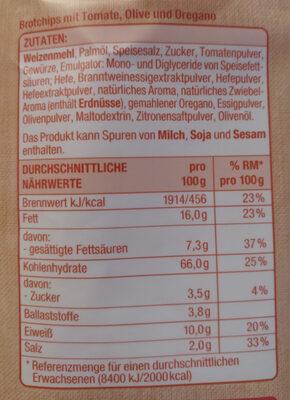 Brot Chips - Ingrediënten