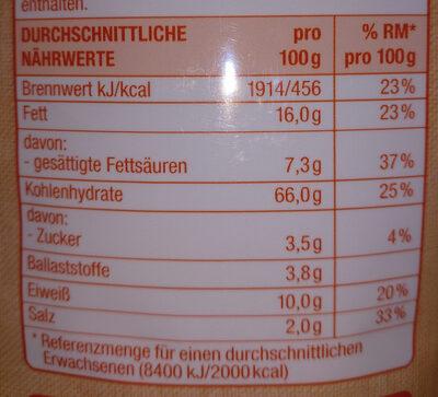 Brot Chips - Voedingswaarden