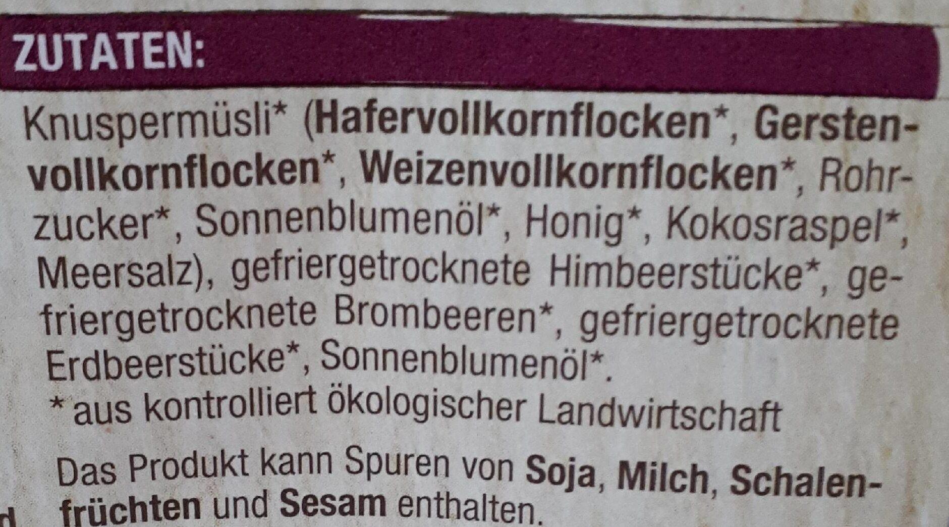 Knuspermüsli Beeren - Ingredients - de