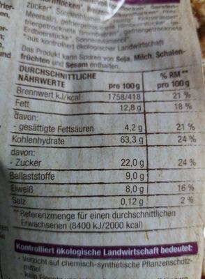 Knuspermüsli Beeren - Nutrition facts - de