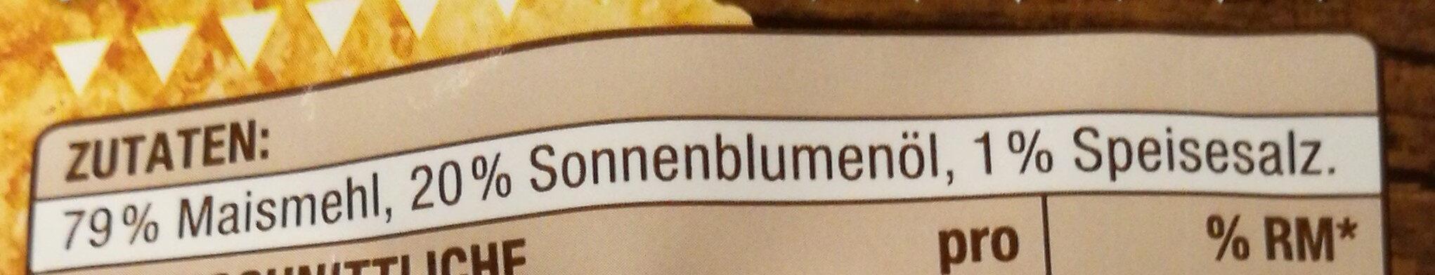 Tortilla Chips gesalzen - Ingredienti - de