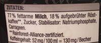 Latte expresso - Ingrediënten