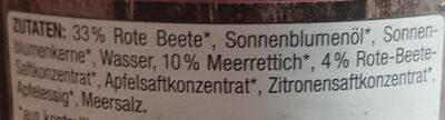 Rote-Beete-Meerrettich - Ingredients