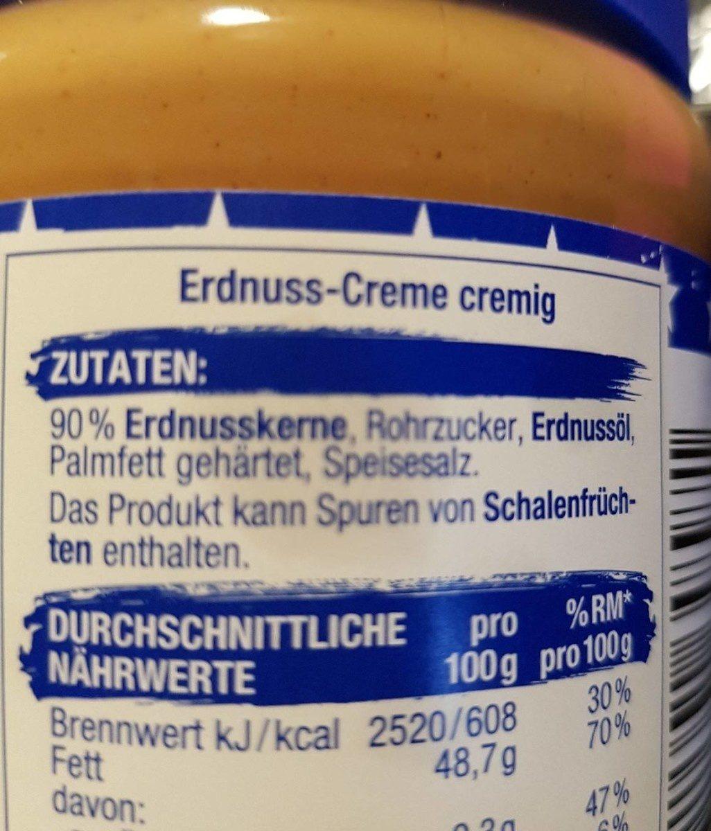 Erdnuss-Creme - Ingrédients - fr
