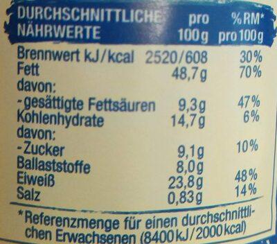 Erdnuss-Creme - Informations nutritionnelles - de