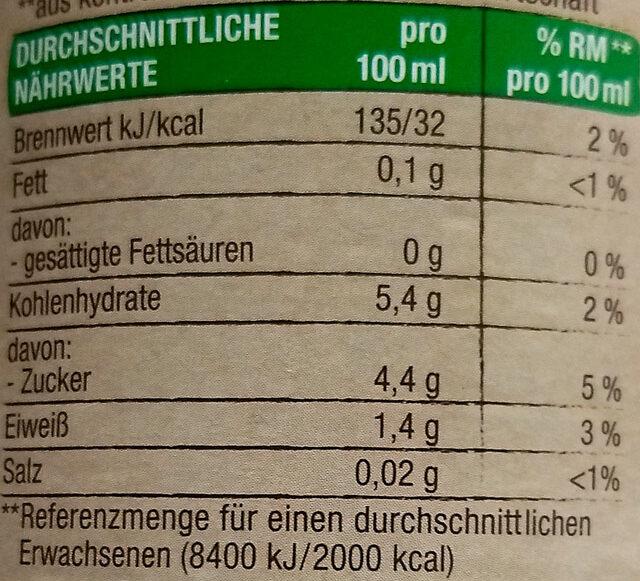Passata - Informations nutritionnelles - de