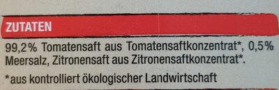 Tomaten Saft - Ingredients