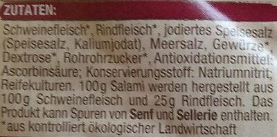 Salami - Ingredients - de