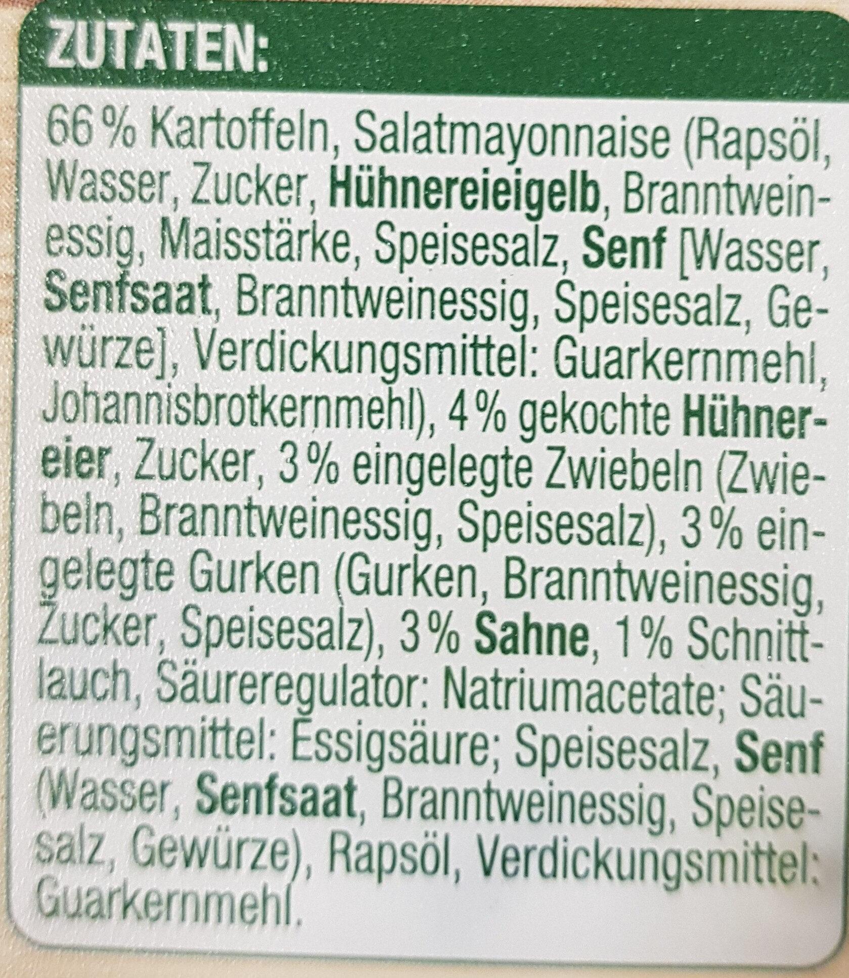 Kartoffelsalat - Zutaten - de