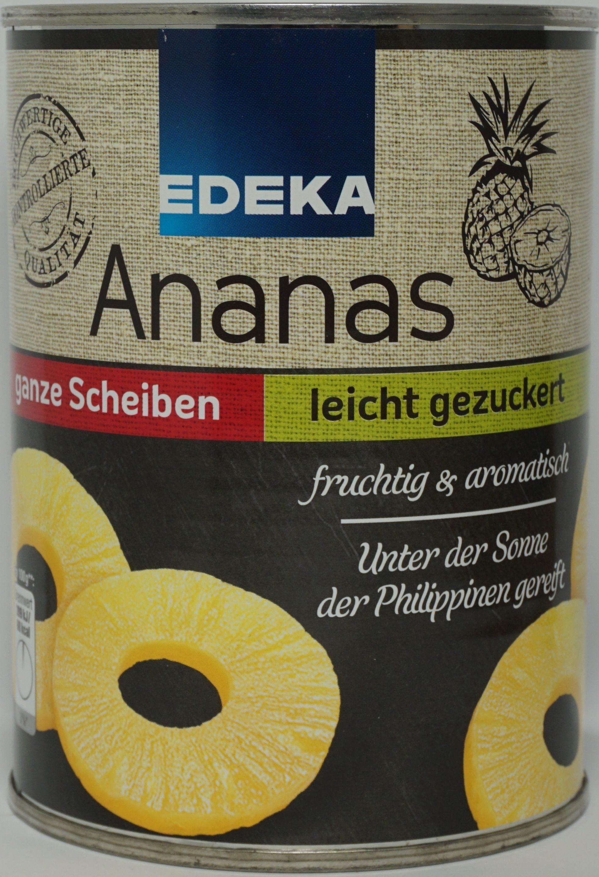 Ananas, ganze Scheiben, leicht gezuckert - Produkt - de
