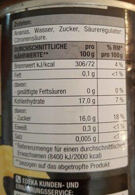 Ananas - Nährwertangaben - de