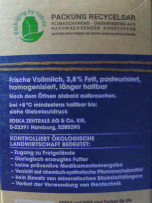 Frische Vollmich - Ingredienti - en