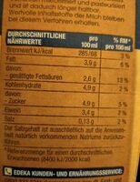 Frische Vollmich - Valori nutrizionali - en