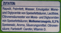 Pflanzen Margarine - Ingredients - de