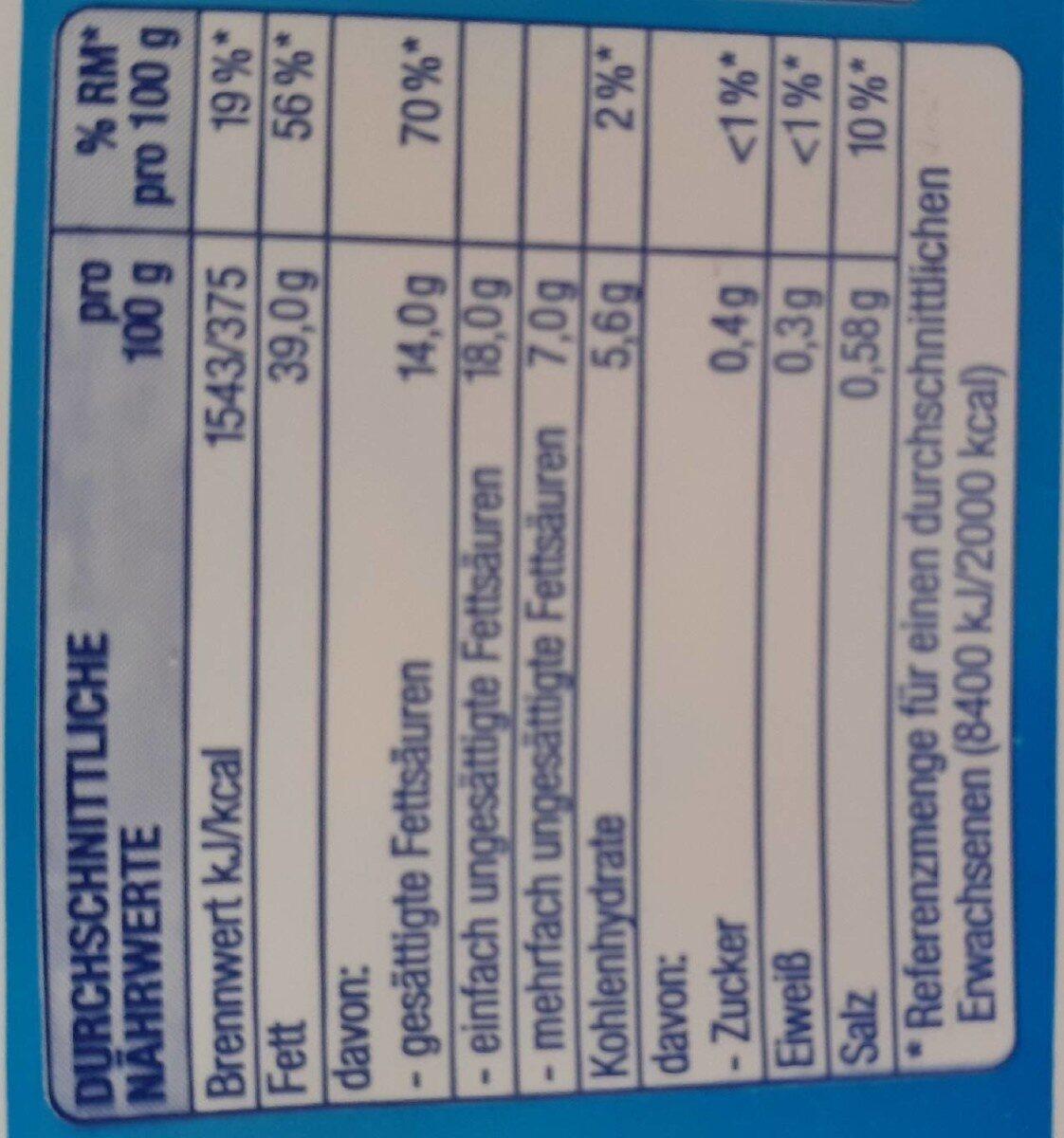 Die Leichte - Valori nutrizionali - de