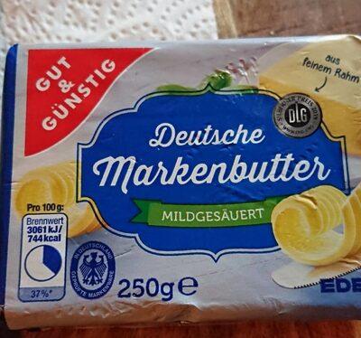 Deutsche Markenbutter mildgesäuert - Prodotto - de