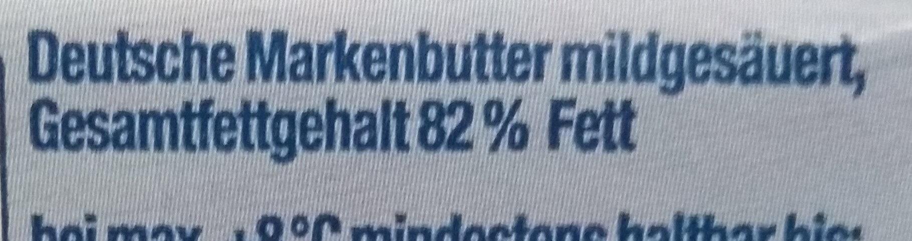 Deutsche Markenbutter mildgesäuert - Ingredienti - de