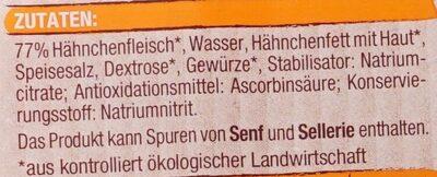 Hähnchen Lyoner - Ingredients - de