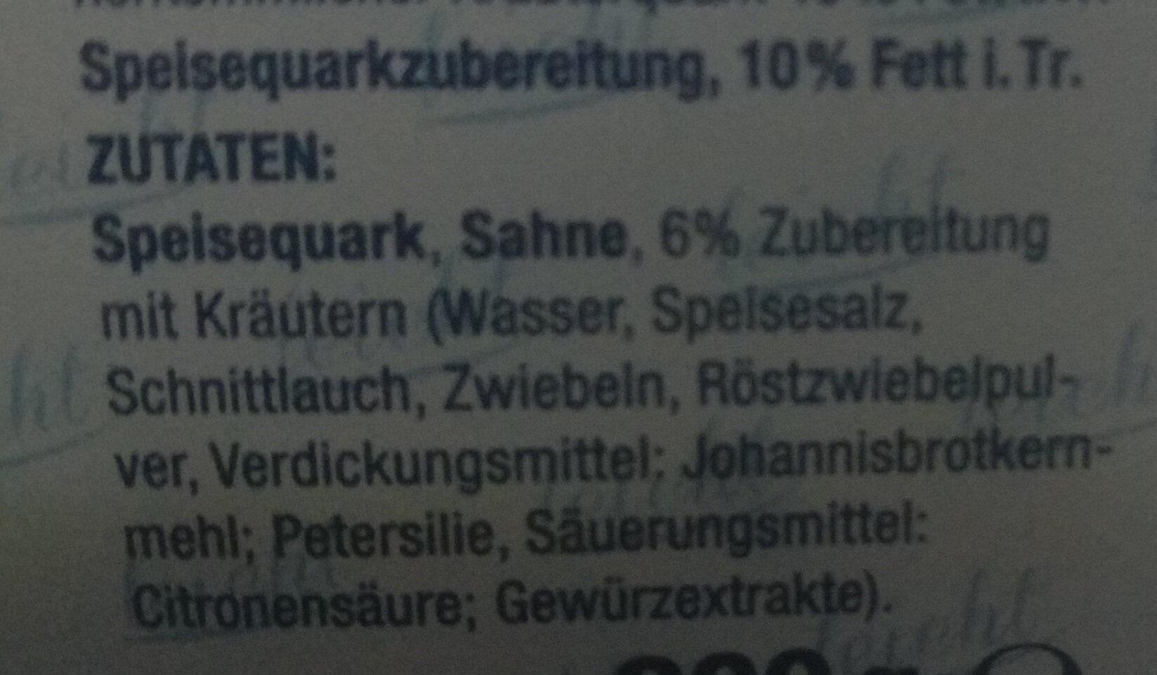 Gut & Günstig Kräuterquark leicht - Ingredients - de