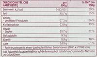 Bio schweizer Zartbitter Schokolade 70% - Informations nutritionnelles - de