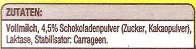 Schoko Drink aus Vollmilch - Ingrediënten - de