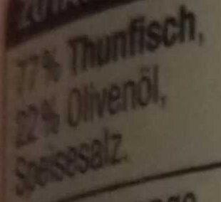 Thunfischfilets in Olivenöl - Ingrédients - de
