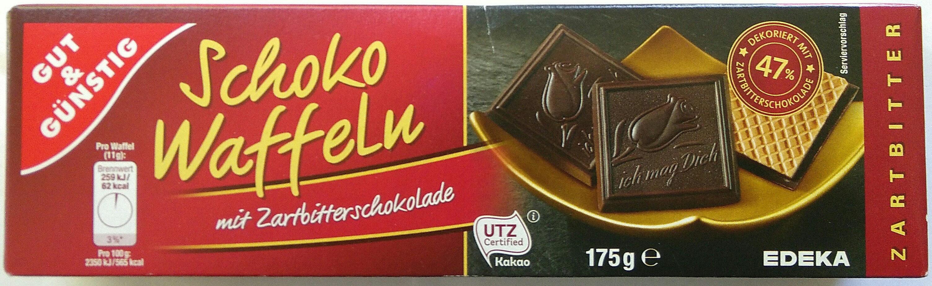 Schokowaffeln mit Zartbitterschokolade - Product - de