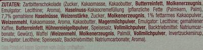 Schokowaffeln mit Zartbitterschokolade - Ingredients - de