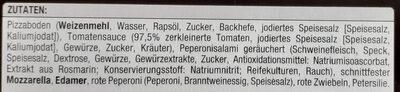 Diavolo Steinofenpizza - Zutaten - de