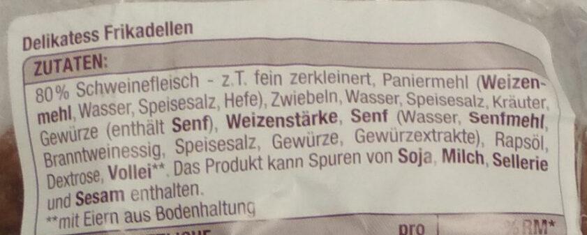 Delikatess Frikadellen - Zutaten - de