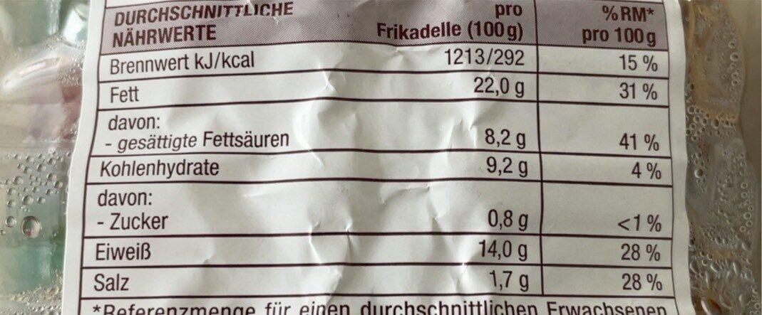 Delikatess Frikadellen - Nährwertangaben - de
