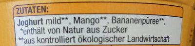 Nur Frucht-Joghurt Mild Mang Banane - Ingrédients - de