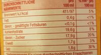 Tomaten Ketchup - Nutrition facts - en