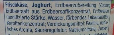 Quarkiger Genuss Erdbeere - Ingrédients - de