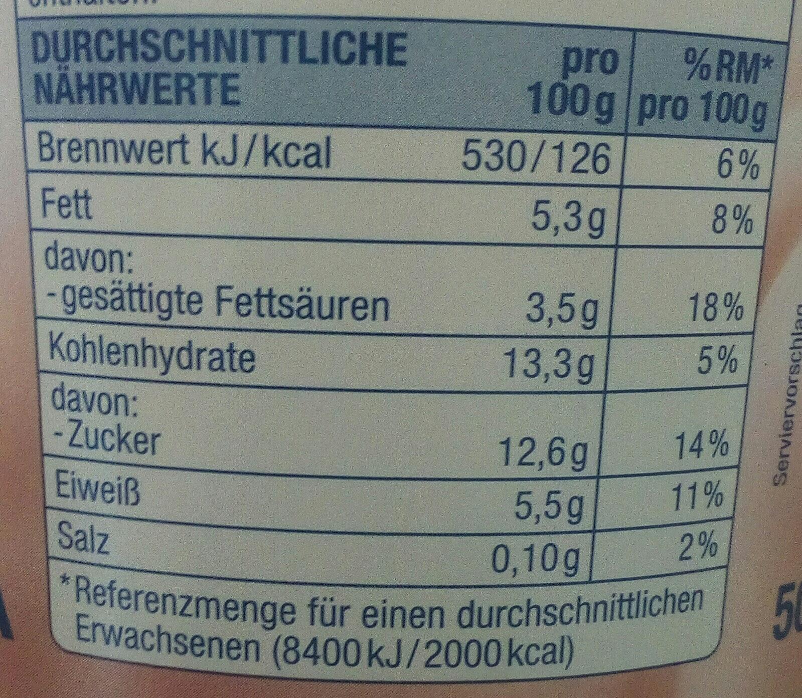 Quarkiger Genuss Erdbeere - Informations nutritionnelles - de