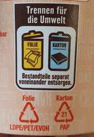 Caesars Chicken - Istruzioni per il riciclaggio e/o informazioni sull'imballaggio - de