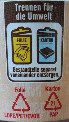 Wrap To Go Paprika Hähnchen - Istruzioni per il riciclaggio e/o informazioni sull'imballaggio - de