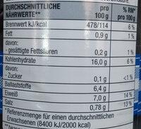 Schwarze Bohnen - Nährwertangaben - de