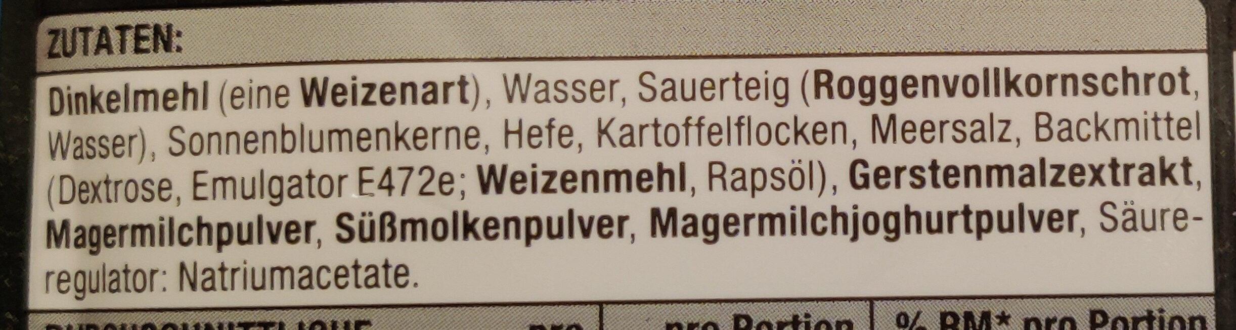 Dinkel Brötchen - Ingrédients - de