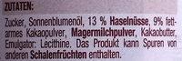 Muss Nougat Creme - Ingredienti - de