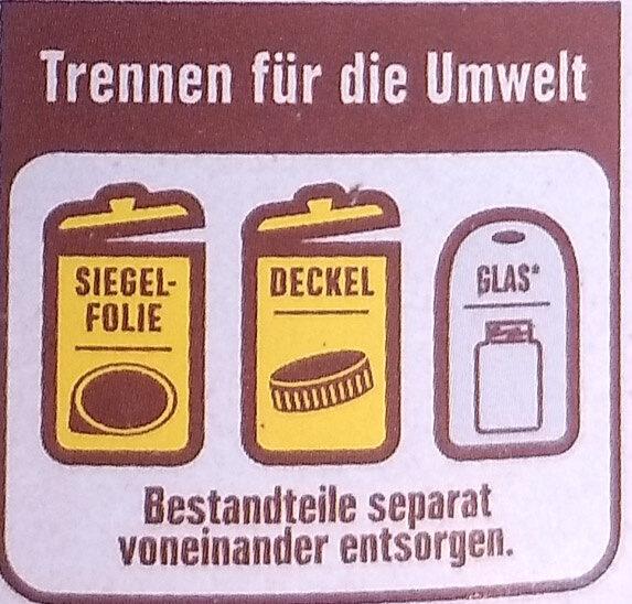 Muss Nougat Creme - Istruzioni per il riciclaggio e/o informazioni sull'imballaggio - de