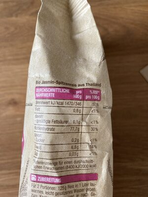 Jasmin Duftreis, Edeka Bio - Ingredienti - de