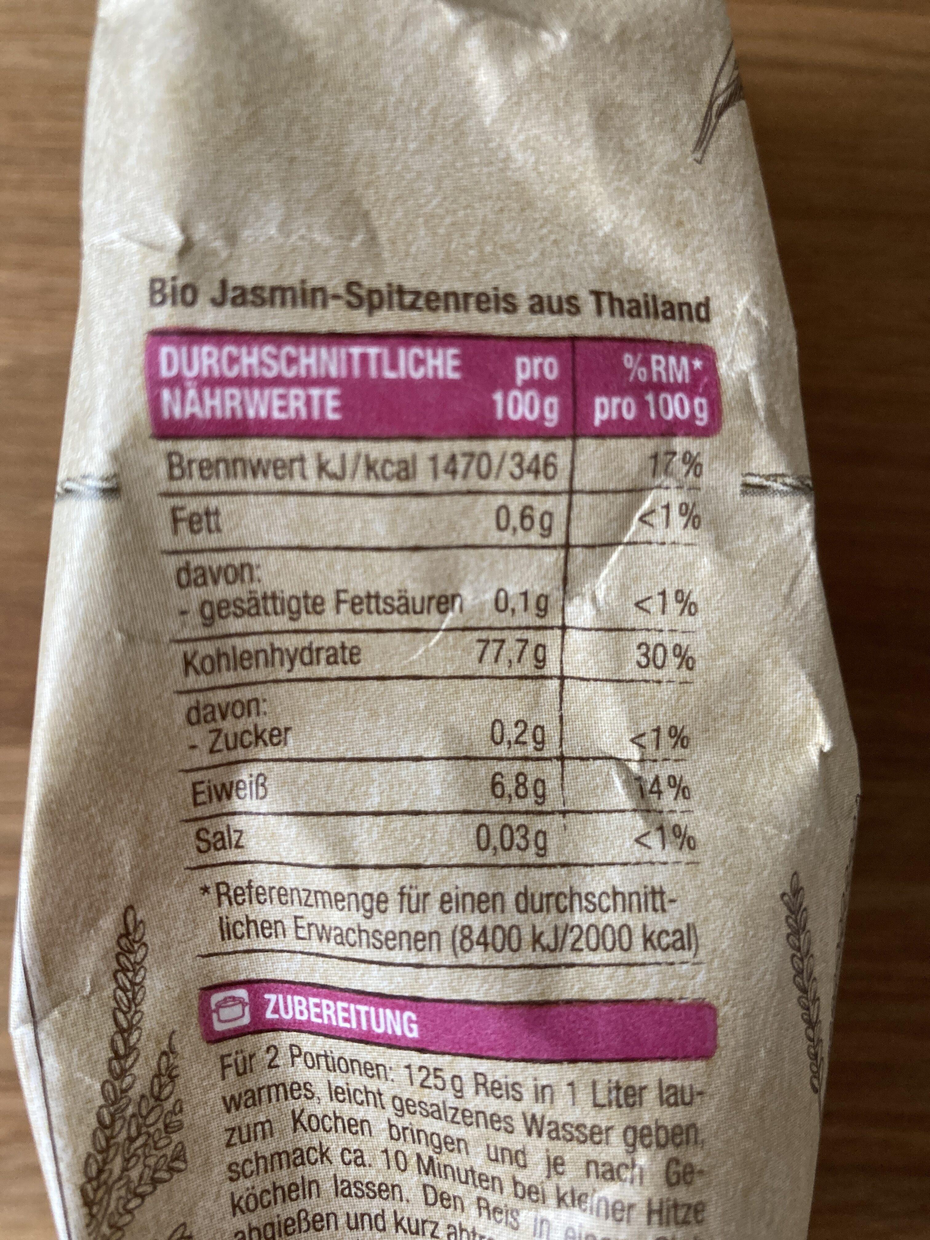 Jasmin Duftreis, Edeka Bio - Valori nutrizionali - de