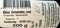 Bio Schalotten, rund - Produkt
