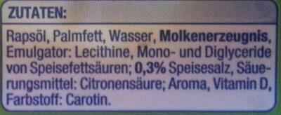 Pflanzenmargarine - Ingredients