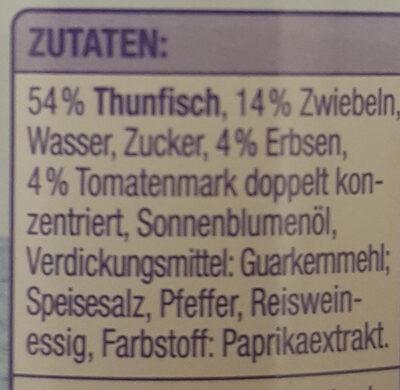 Thunfisch mit Gemüse Gut & Günstig - Ingrédients