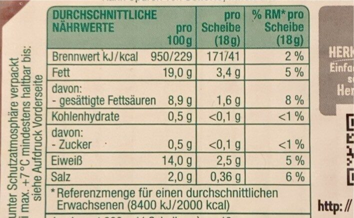 Delikatess Jagdwurst - Voedingswaarden - de