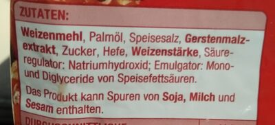 Salzbrezeln - Ingredients - de