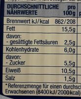 Herings filets - Informations nutritionnelles - de